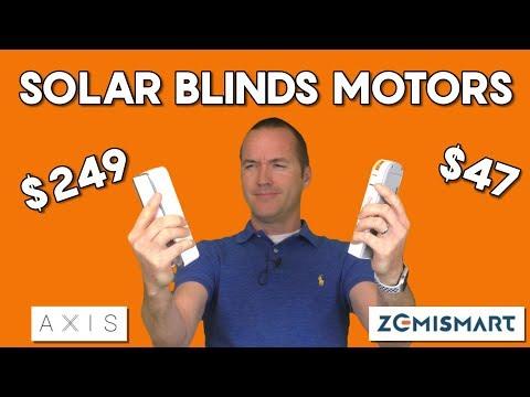 Cheap Vs Expensive - Solar Powered Motorized Blinds -  (Axis Gear Vs Zemismart)