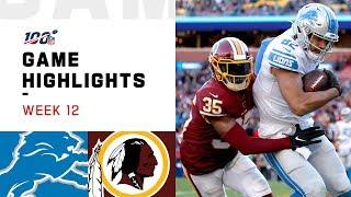 Lions vs. Redskins Week 12 Highlights