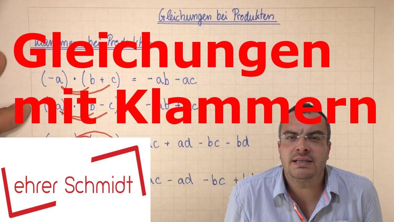 Download Gleichungen mit Klammern | Terme und Gleichungen | Mathematik | Lehrerschmidt