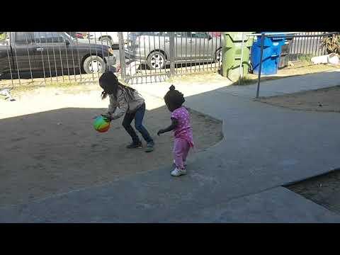 Ganae, Saniya, niylah playing at granny house