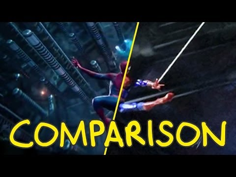 The Amazing Spider-Man 2 Trailer – Homemade Side by Side Comparison