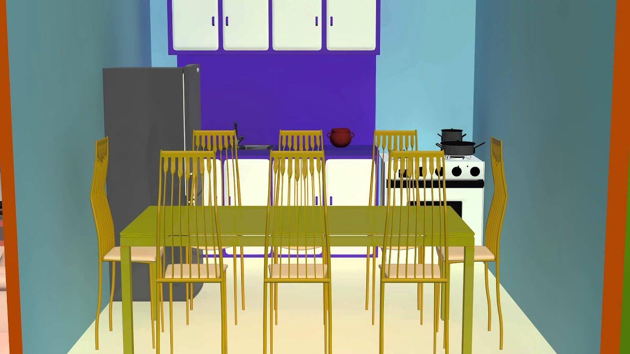 Educando a los ni os partes de una casa youtube for Cosas para amueblar una casa