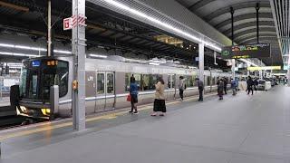 JR西日本 大阪駅3番・4番ホーム(神戸線新快速最終電車 西明石行)2021/4(4K UHD 60fps)