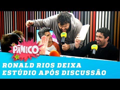 Ronald Rios deixa estúdio do Pânico após discussão com Flavio Morgenstern