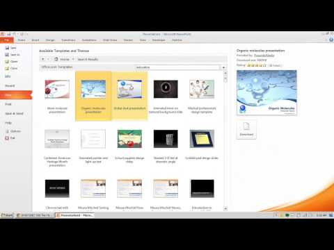 How to download new themes in PowerPoint