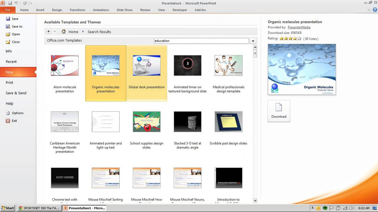 How to download new themes in PowerPoint - YouTube
