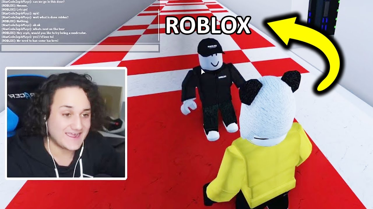 Zephplayz Meets Roblox In Game Youtube