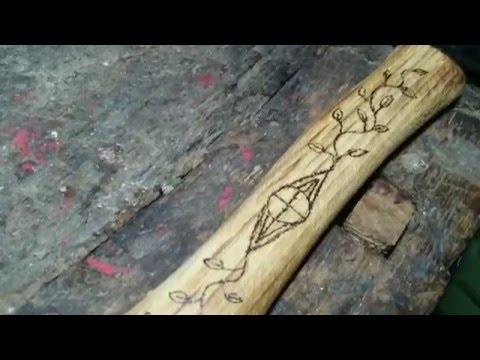 Jak ozdobić drewno (na przykładzie trzonka siekierki)