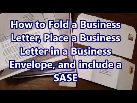 how to fold business letter