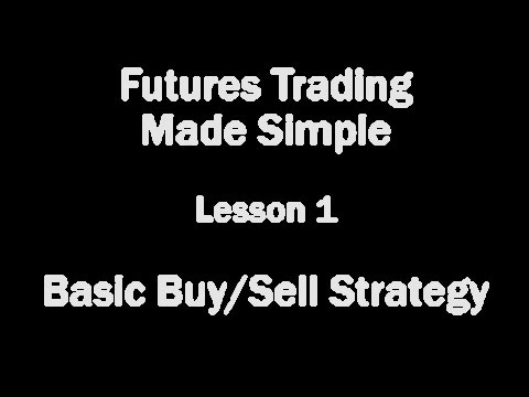 Futures Trading Made Simple - Lesson 1 - Basic Buy/Sell Strategy