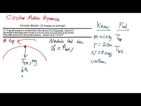 Circular Motion Dynamics - Problem #1 - YouTube