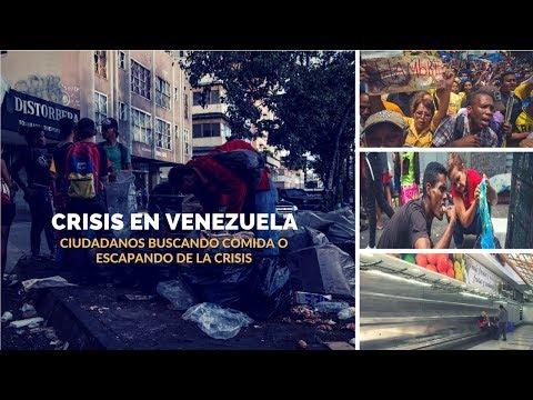 Venezuela: la angustia de sus ciudadanos buscando comida o escapando