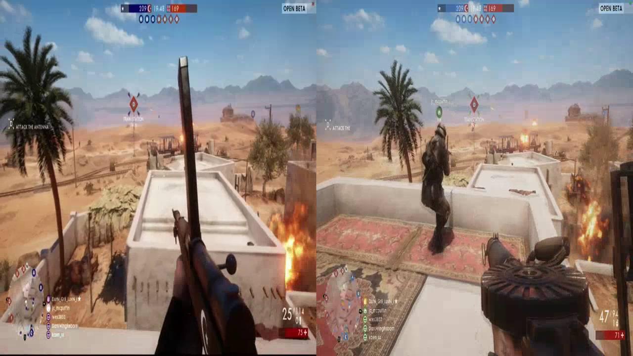 Battlefield 1 Split Screen Recycled Emotions Youtube