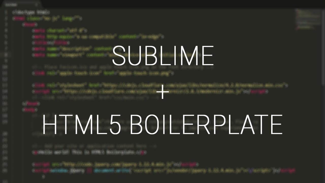 How to setup htmlboiler template package in sublime text editor how to setup htmlboiler template package in sublime text editor maxwellsz