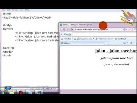HTML Dasar 1 Script Dasar