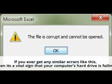 how to tell if hard drive is failing