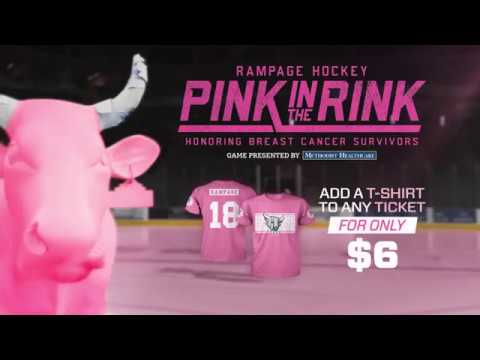 Join the Rampage for Pink in the Rink Night, Friday Feb. 2nd.