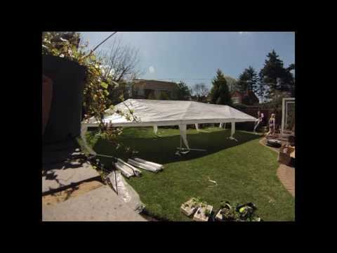 Party Tent Assembly palm springs marquee 3 x 9m