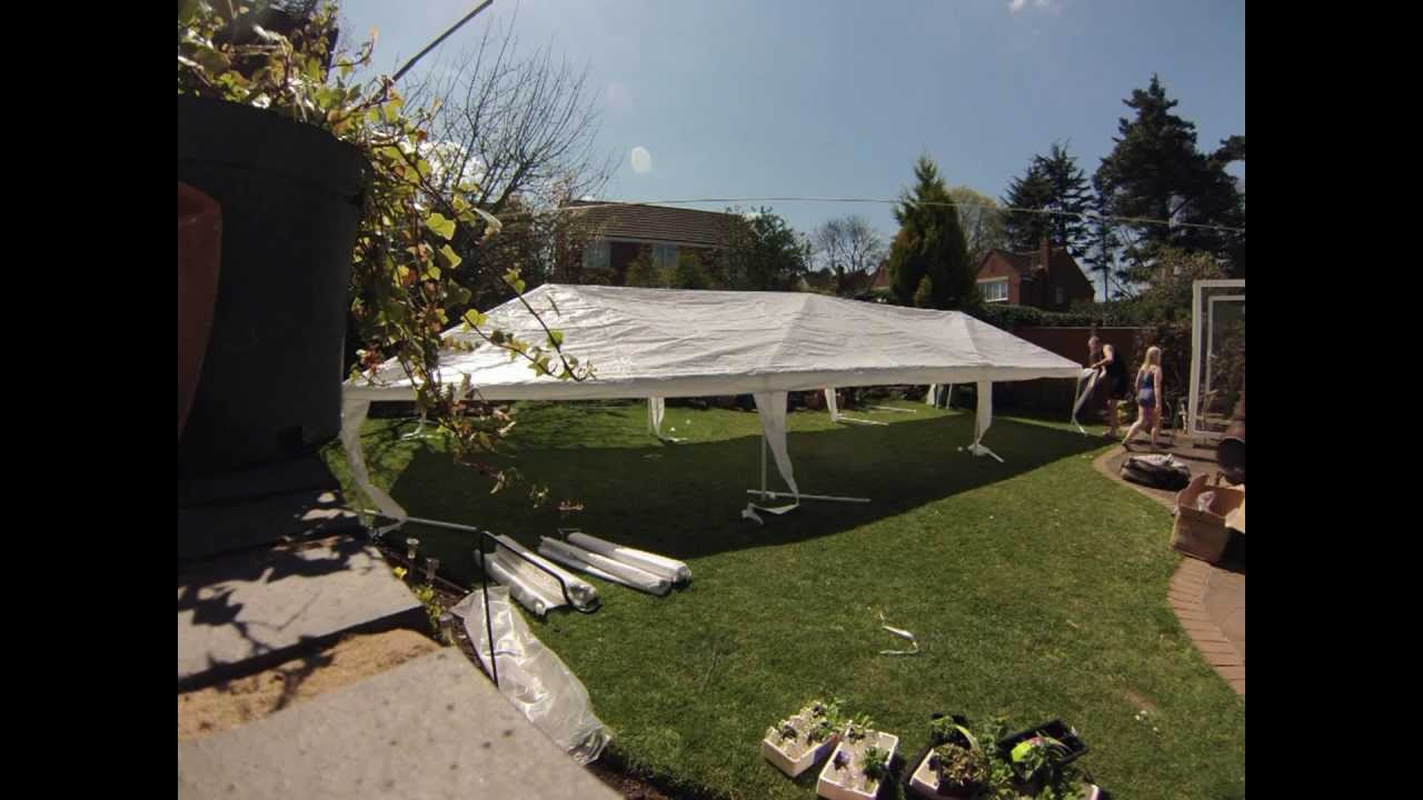 & Party Tent Assembly palm springs marquee 3 x 9m - YouTube