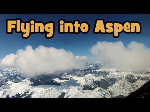 Flying a Gulfstream - Descent into Aspen - High Def !!