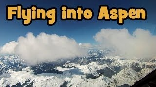 Flying a Gulfstream - Descent into Aspen - High Def !!