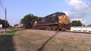CSXT G600 ES44AH/ES44AH/SD40-3 & Horn Salutes as the Loaded Grain Train makes its way to Hamlet NC!!