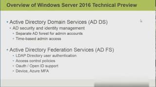 Windows Server 2016 New features
