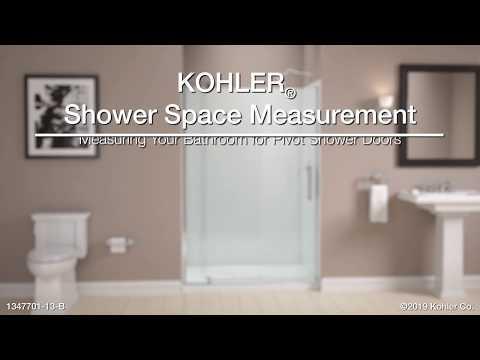 Measuring Your Bathroom For KOHLER Pivot Shower Doors