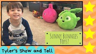 Tyler's Show and Tell- Sunny Bunnies Toys- Sunny Bunnies Bunny Blast Playset and Huggable Plushes