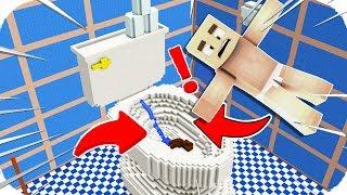 TROLL BEBEK DEV BİR KLOZETE DÜŞTÜ! 😱 Minecraft
