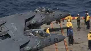 U.S. Marine Corps Flight Operations Onboard USS Peleliu!