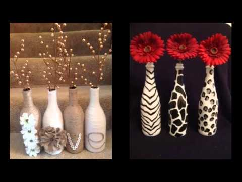 Homemade Diy Glass Bottle Art Pics For Home Decor Ideas Easy Home Decor Ideas Youtube