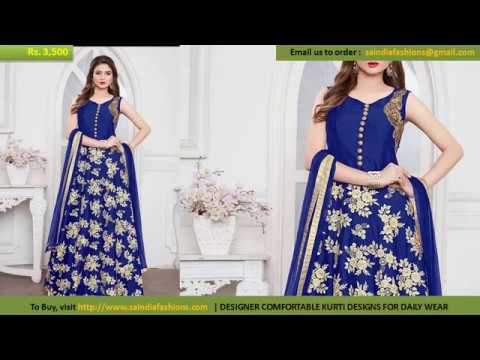 Buy Online Dress - Modern New Arrivals Fashionable Women Designer Silk Anarkali Suits Readymade