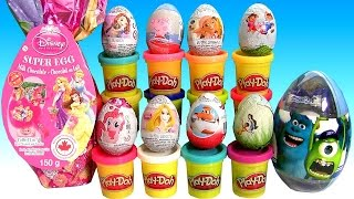 Play Doh Disney Princess Surprise Eggs Sofia PeppaPig MyLittlePony PlayDough Huevos Sorpresa