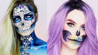 ✨13 MIN OF SKULL HALLOWEEN MAKEUP | Best Makeup Tutorials 2018 | Woah Beauty