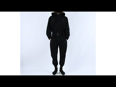 롤프 남자점프수트 남성점프수트 점프슈트 점푸수트 후드집업 한벌 세트 조거팬츠 점푸슈트 점프수트 블랙