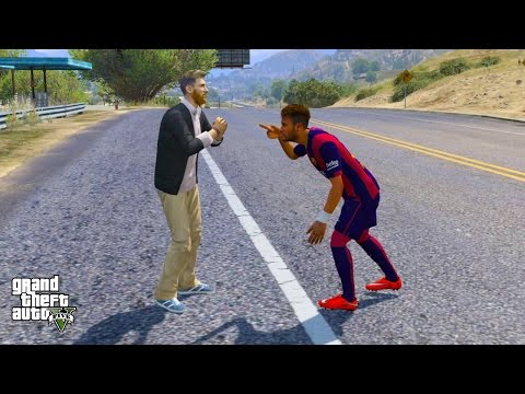 NEYMAR JR VS LIONEL MESSI (GTA 5 Mods Funny Moments)