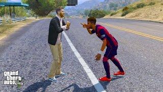 NEYMAR JR VS LIONEL MESSI (GTA 5 Mods Funny Moments)