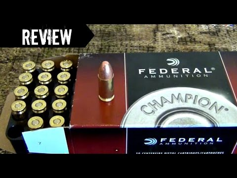 Federa Championl 9mm 115 grain FMJ RN ammo