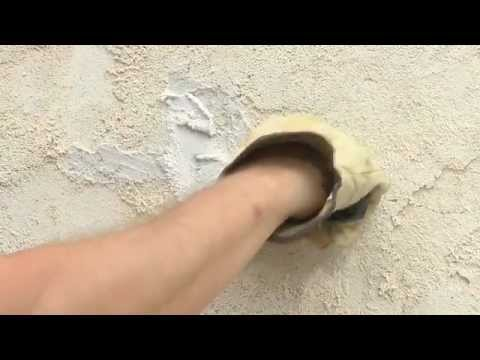 How to Repair Cracks and Holes in Stucco - YouTube