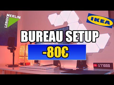 BUREAU SETUP GAMING A MOINS DE 80 EUROS IKEA & LEROY MERLIN !