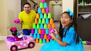 Wendy Builds Colored Cups Wall Fun Kid Toys