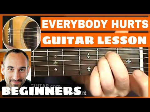 Everybody Hurts Guitar Lesson - part 1 of 2