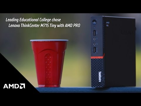 Leading Educational College Chose Lenovo ThinkCenter M715 Tiny with AMD PRO