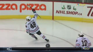 Blackhawks' Hinostroza pounds one-timer past Hellebuyck, Jets down 2-0