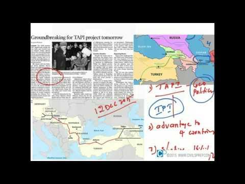 TAPI Pipeline and Geo Politics - UPSC (IAS) Current Affairs
