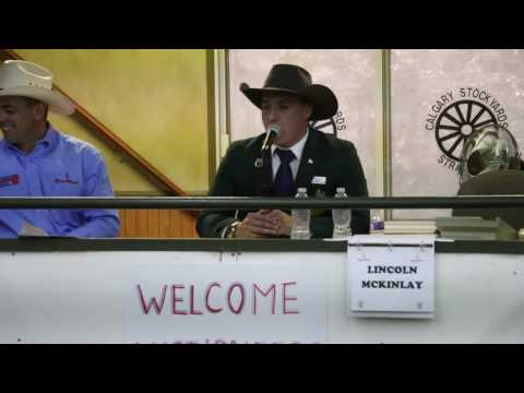 2017 Calgary Stampede International Livestock Auctioneer Rookie of the Year - Lincoln McKinlay