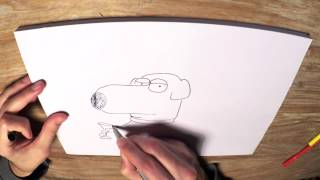 How to Draw Brian Griffin (the dog) from Family Guy