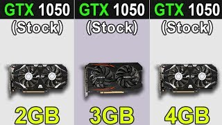 GTX 1050 (2GB) VS. GTX 1050 (3GB) VS. GTX 1050 Ti (4GB)   New Games Benchmarks