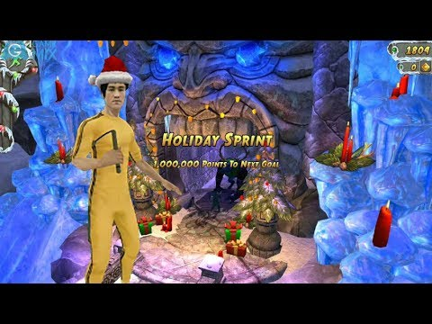 iGameMix😀TEMPLE RUN 2 Fullscreen☑️Bruce Lee Tracksuit Santa Hat holiday sprint*Gameplay For Kid#387